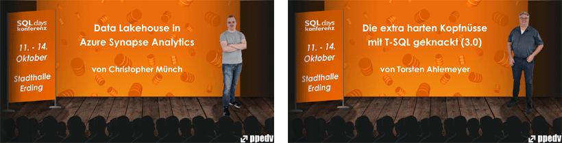 Chris und Torsten als Sprechera uf den SQLdays2021