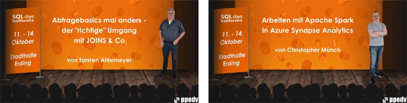 Chris und Torsten als Sprecher auf den SQLdays2021